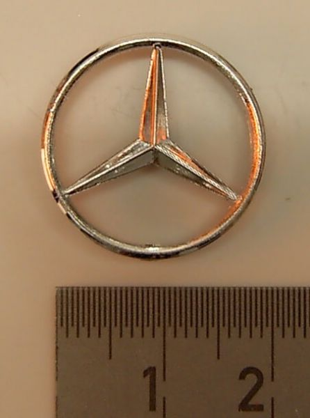 1 Mercedes star (20mm outside) chrome, for Actros