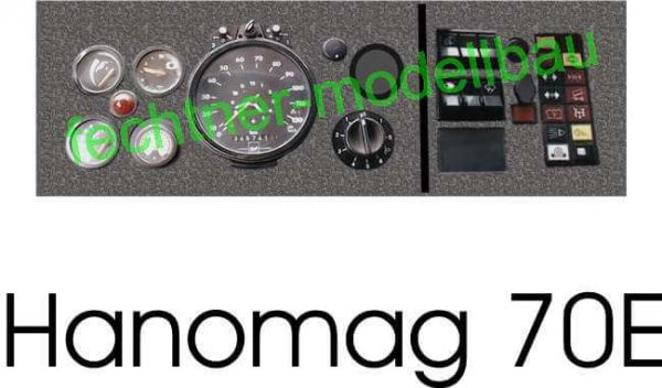 "Decal / Sticker ""dashboard"" B07 for Hanomag 70E"
