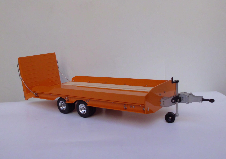 tieflader anh nger mit rampe 2 achsig ral2011 wedico. Black Bedroom Furniture Sets. Home Design Ideas
